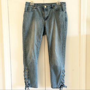 Michael Kors Cropped Denim Jeans Size 8
